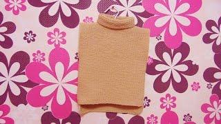 Как связать теплую жилетку, спицами платочной вязкой.