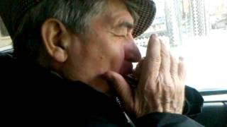 Lou Kessel (dad) - My Yiddishe Mama on Harmonica + Driving!
