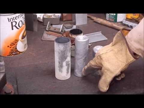 Easily cast home brew aluminium round stock