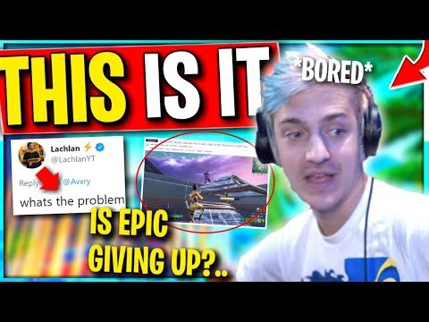 Ninja Finally ADMITS It.. Tells Epic To DO THIS To Save Fortnite