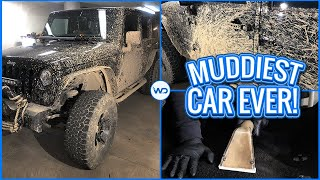 Deep Cleaning The Muddiest Jeep Wrangler EVER! | Satisfying Interior & Exterior Car Detailing!