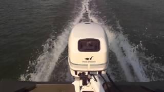 Johnson 9.9 HP 4 stroke on lake.