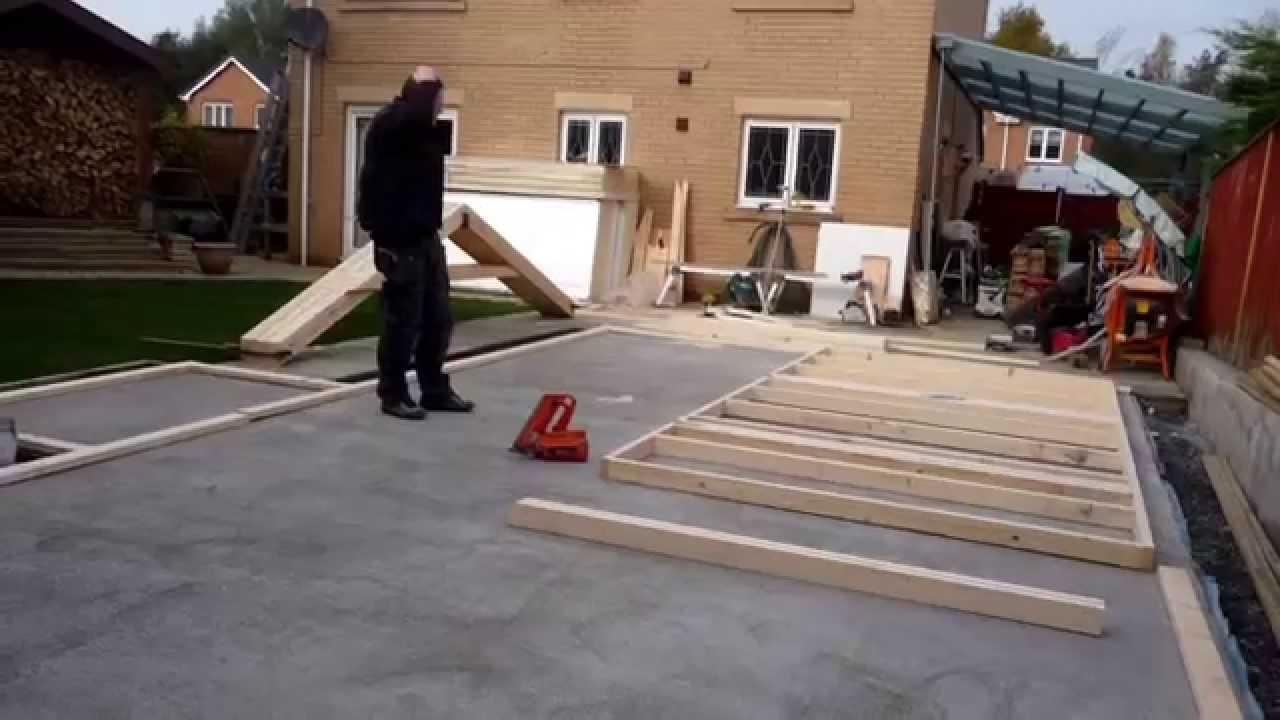 building my garden workshop part 1 youtube