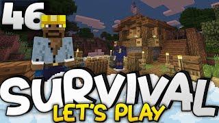 BRAND NEW DOCKHOUSE!!! - Survival Let's Play Ep. 46 - Minecraft Bedrock (PE W10 XB1)