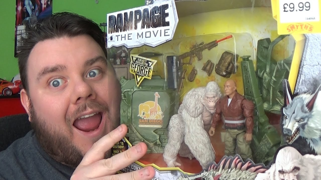 Rampage Movie Toys Canister Contact George Play Set The Rock