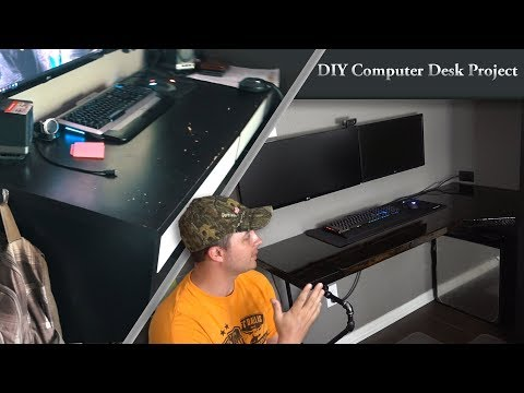 My New Computer Desk! | DIY solid wood, epoxy-coated desk