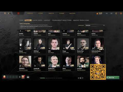 Talent Autographs Chat Wheel | Download The Voice | TI10 | Dota 2 2021