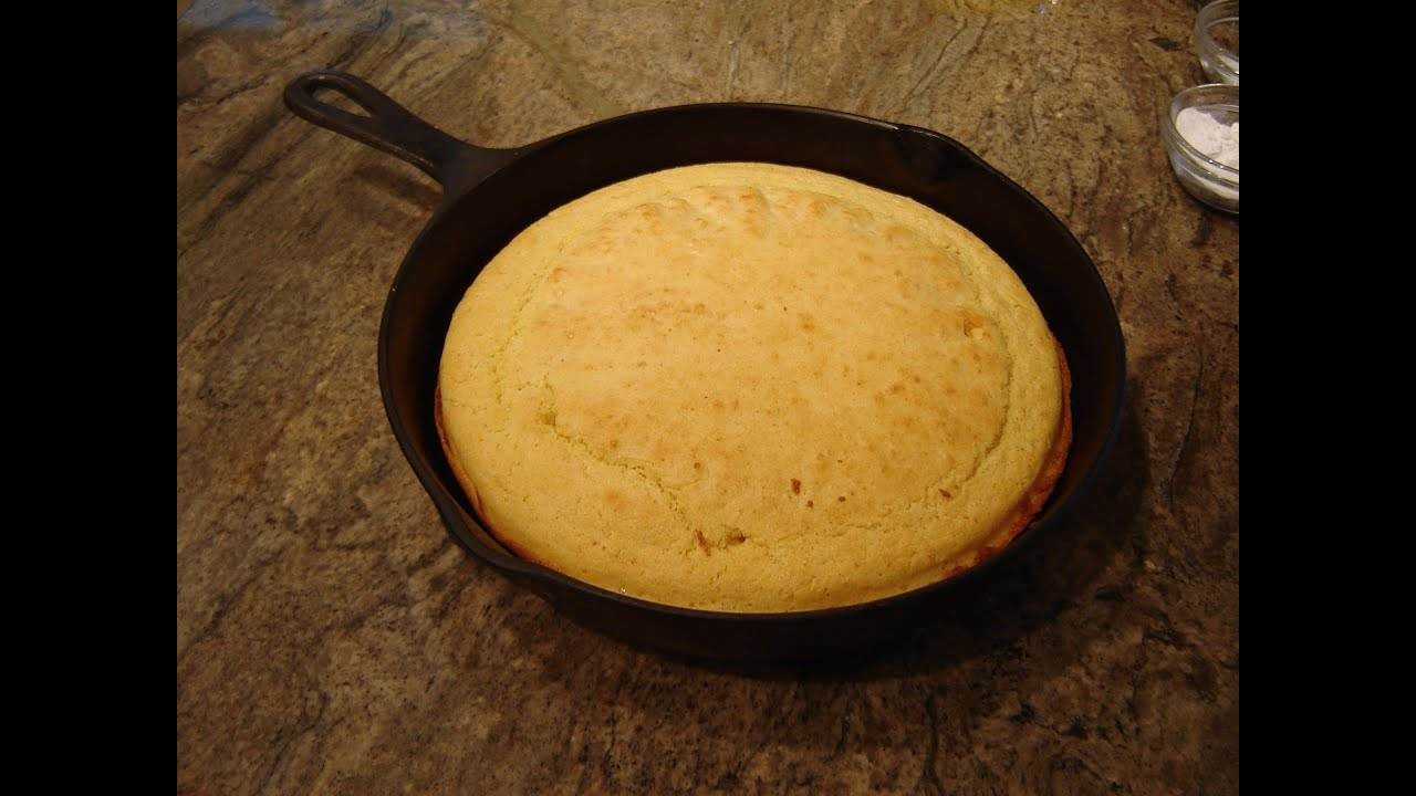 Skillet Corn Bread No Sugar Recipe by Diane Love To Bake - YouTube