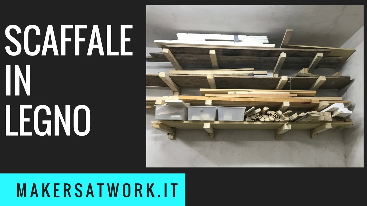 Scaffale in legno fai da te youtube for Youtube fai da te legno