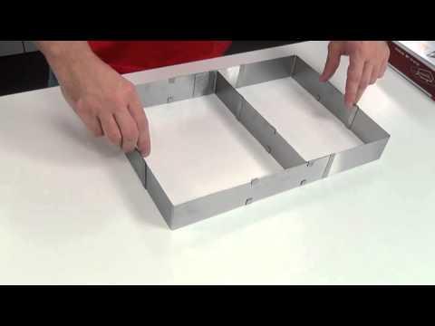 Tescoma DELICIA Adjustable Cake Frames 623380-82 - YouTube
