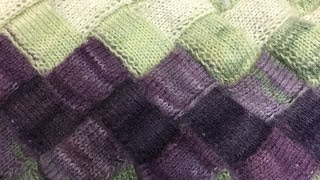ЭНТРЕЛАК  СПИЦАМИ -- школа вязания  ОЛЬГИ  ПАВЛОВОЙ / Entrelac Knitting  for beginner