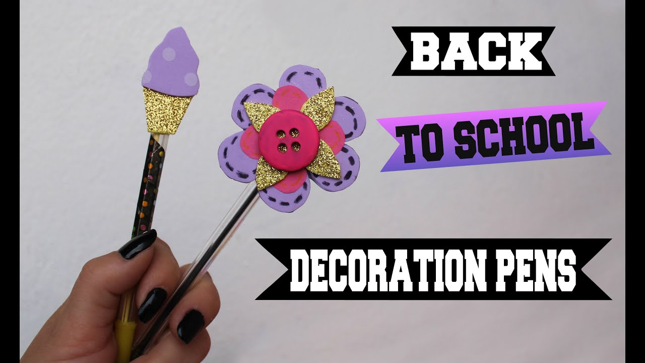 back to school decoration pens dekoracija olovki plumas decoracion