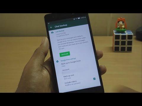 How to restore backup data of whatsapp
