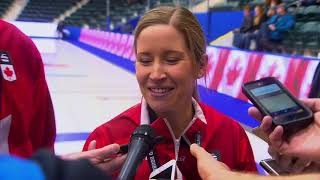 2018 Canad Inns Canadian Mixed Doubles Trials - Media Scrum - Gold Medal