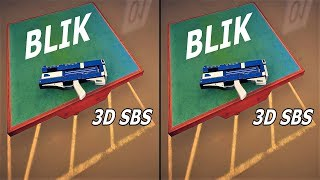3D VR  video BLIK Side by Side SBS google cardboard