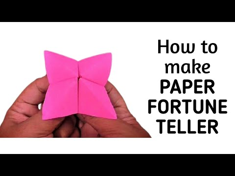How to make an origami paper fortune teller | Origami / Paper Folding Craft, Videos and Tutorials.