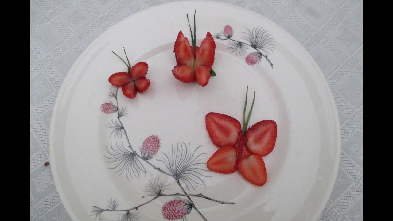 Como hacer mariposas con fresas frutillas how to make - Como hacer zumo de fresa ...
