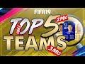 FIFA 19: TOP 5 FUT CHAMPIONS TEAMS! I 100K I 750K I 1MIO I 2MIO I 3MIO