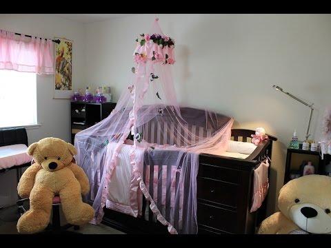 Como hacer un velo para el cuarto de una bebe 2da parte - Como hacer un dosel para cuna ...