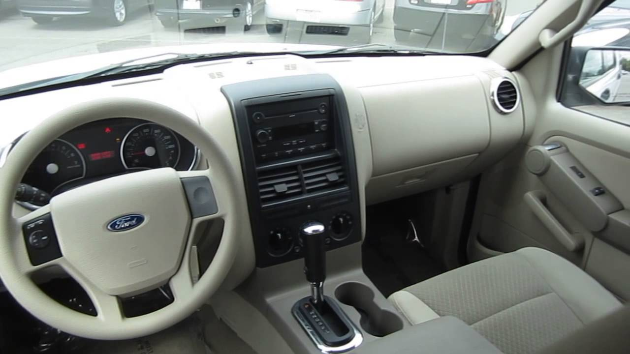 2006 ford explorer white stock la55096 interior