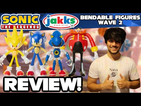 Sonic The Hedgehog Jakks Pacific Bendable Figures Wave 1 Review Unboxing Youtube