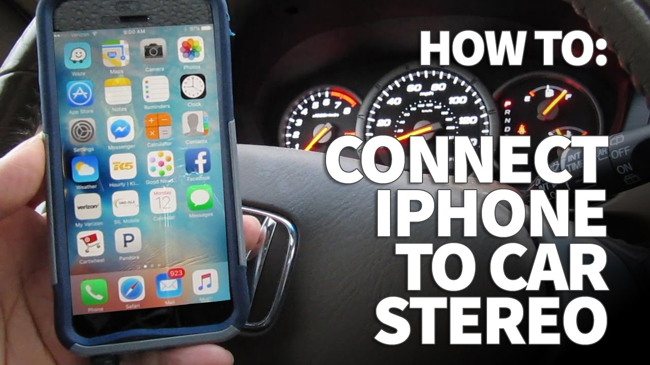 connect iphone to car how to connect an iphone to a car stereo and listen to 13850