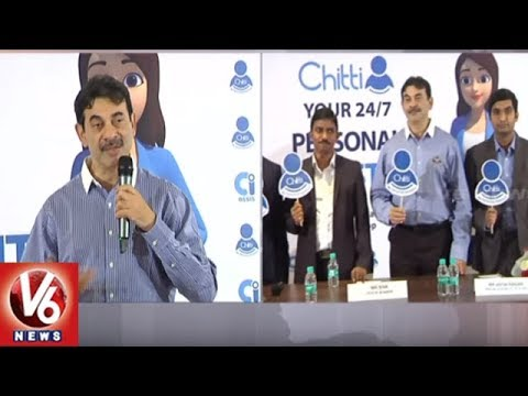 IT Secretary Jayesh Ranjan Launches Chitti Mobile Assistant App | Hyderabad | V6 News
