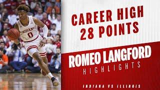IUBB - Romeo Langford Career High 28 Points (01/03/19)