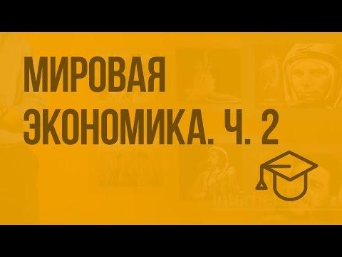 Мировая экономика. Ч. 2. Видеоурок по обществознанию 11 класс