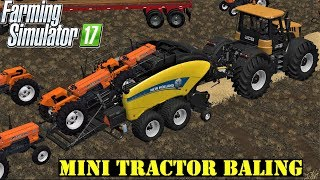 Farming Simulator 17 | Mini Tractor Baling In Goldcrest Valley