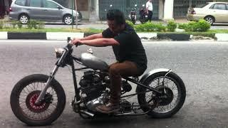 Bobber japanese bike @ suzuki gs450 sound