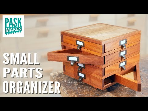 Small Parts Organizer with Triangle Drawers