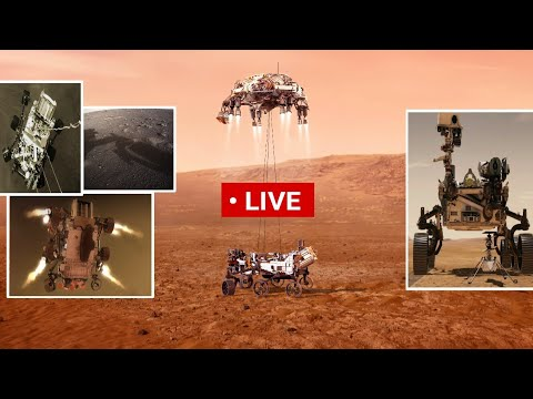 NASA's Mars 2020 Perseverance Rover 18 Feb. 2021 Landing update live | First Helicopter Mars mission