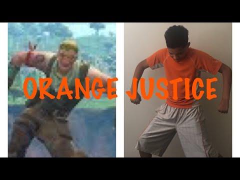How to do orange justice dance   orange justice dance challenge   Kid hits orange justice dance!