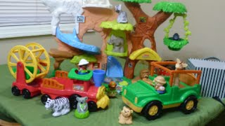 Fisher-Price Little People Animal Sounds Zoo Talkers Train, Safari Truck and Zoo Habitat