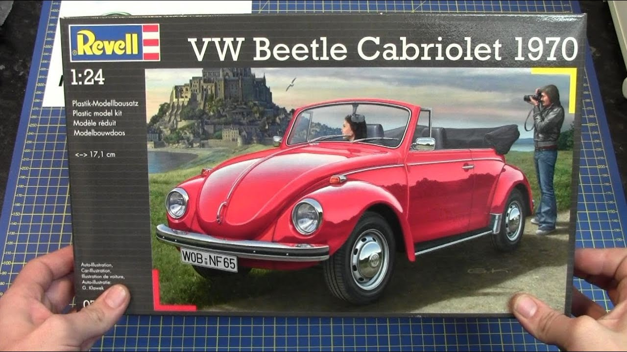 1970 Volkswagen Beetle >> Revell 1/24 VW Beetle Cabriolet 1970 # 07078 www.eModels.co.uk - YouTube