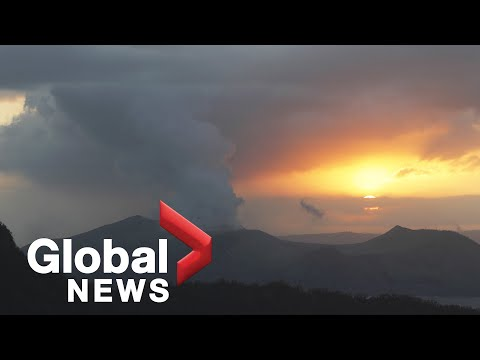 Taal volcano eruption