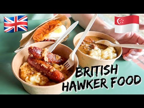 TRYING BRITISH HAWKER FOOD IN SINGAPORE!