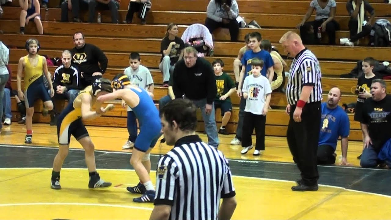Kid gets hit in the balls hard during wrestling match
