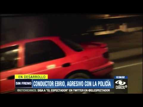 Borracho prefirió romper su vehículo antes que recibir comparendo