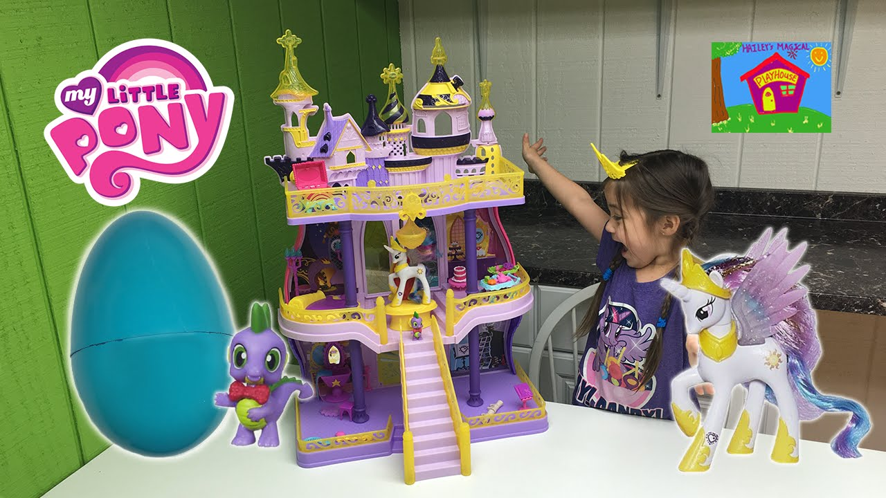 Biggest My Little Pony Castle Ever & Huge MLP Surprise Toy Egg with Princess Celestia Toys Review - YouTube