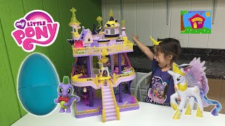 Biggest My Little Pony Castle Ever & Huge MLP Surprise Toy Egg with Princess Celestia Toys Review