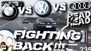 wolf im schafspelz bmw m135i vs audi a3 8v vs vw passat b6 german autobahn forza motorsport 5 style