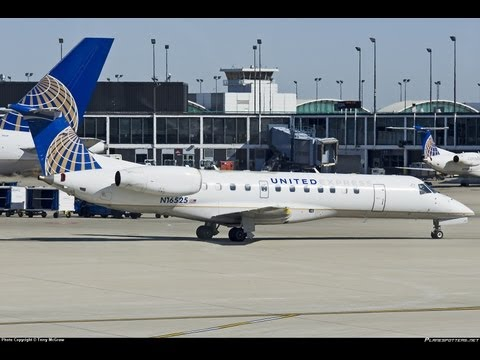 Newark: The Load Of United Express Embraer Regional Jets (HD1080p)