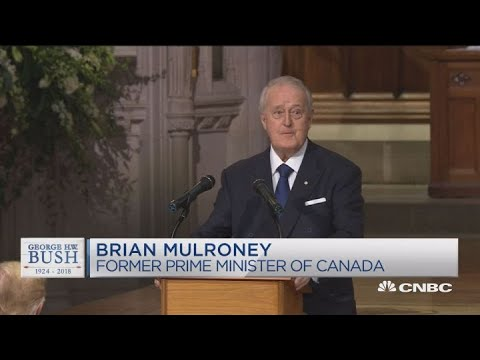 President George HW Bushs funeral - Fmr Canadian PM delivers his eulogy