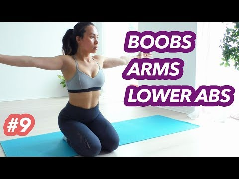 lower-ab-workout,-arms-and-breast-lift-|-21-day-lose-belly-fat-challenge-#9