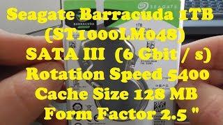 """Seagate Barracuda 1TB 2.5""""(ST1000LM048)#134# Unbox+Test"""