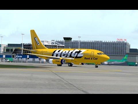 FSX Full flight from Dublin to Manchester (EIDW - EGCC) on Boeing 737-200 Ryanair