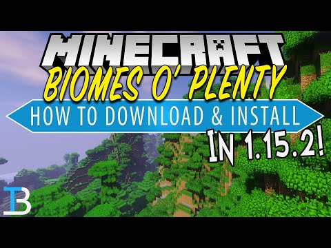 How To Download Install Biomes O Plenty In Minecraft 1 15 2 Youtube