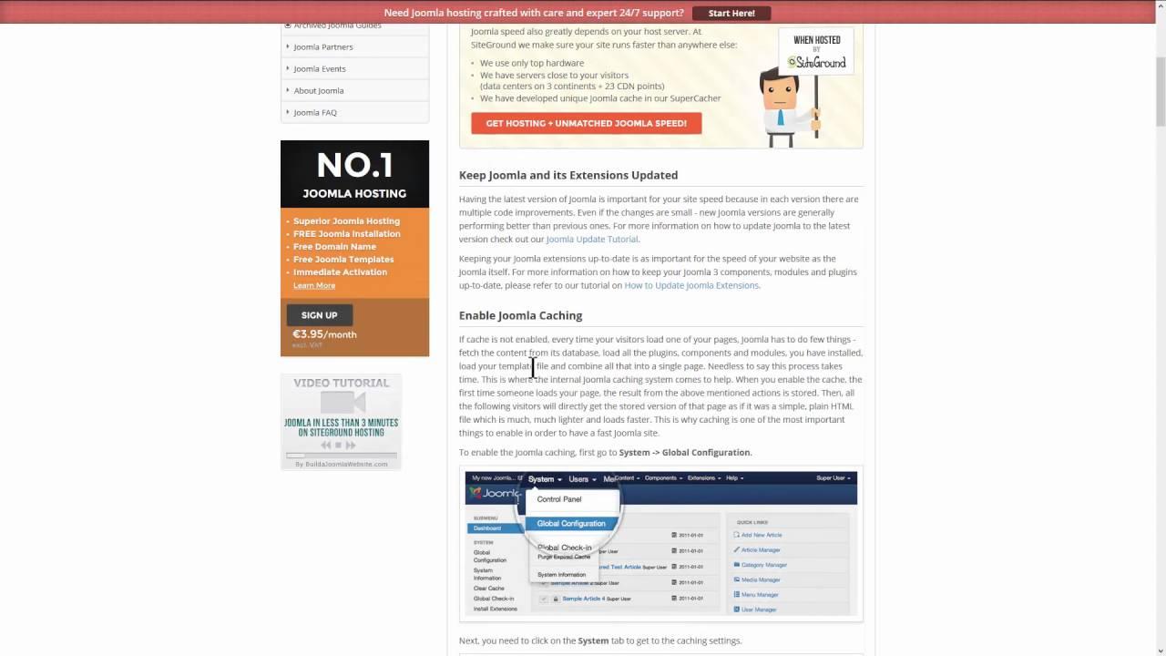 Optimisation d'un hébergement SiteGround pour Joomla - Optimisation du fichier .htaccess